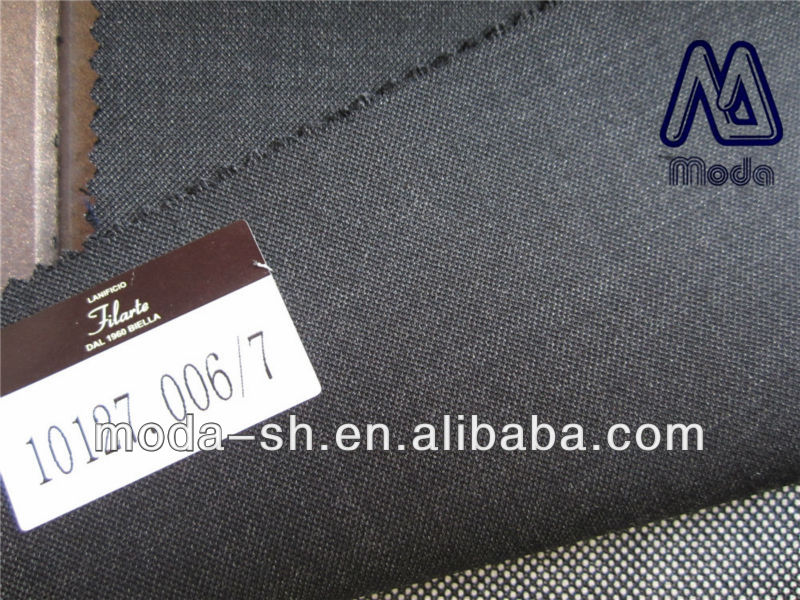 black grey charcoal super180 100%wool suit fabric worsted plain 10127.006/7