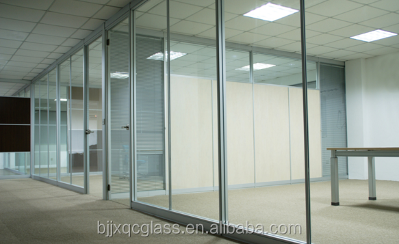 sound insulation 19mm clear tempered glass room dividers with good quality