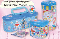 OEM design tin money box coin bank saving box