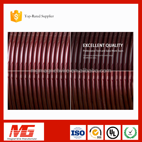 High Quality Standard 32-35 SWG class 130 Polyester Magnet Round Aluminum Enameled Coated Wire