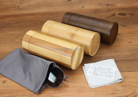 customize cylinder bamboo sunglasses packaging box for sale