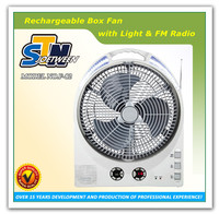 AC/DC battery solar usha rechargeable emergency light fan/radio