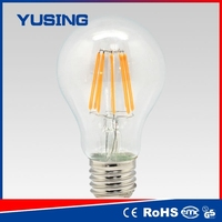 goods from china edison bulb e27 8w LED filament bulb is fused