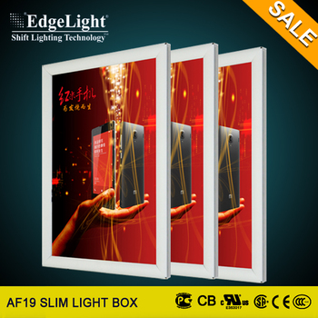 Edgelight Acrylic Panel Open Frame Aluminum Menu Board Light ...