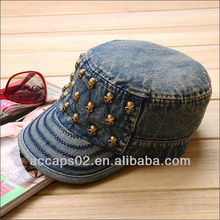 metal skull cotton cowboy military hat