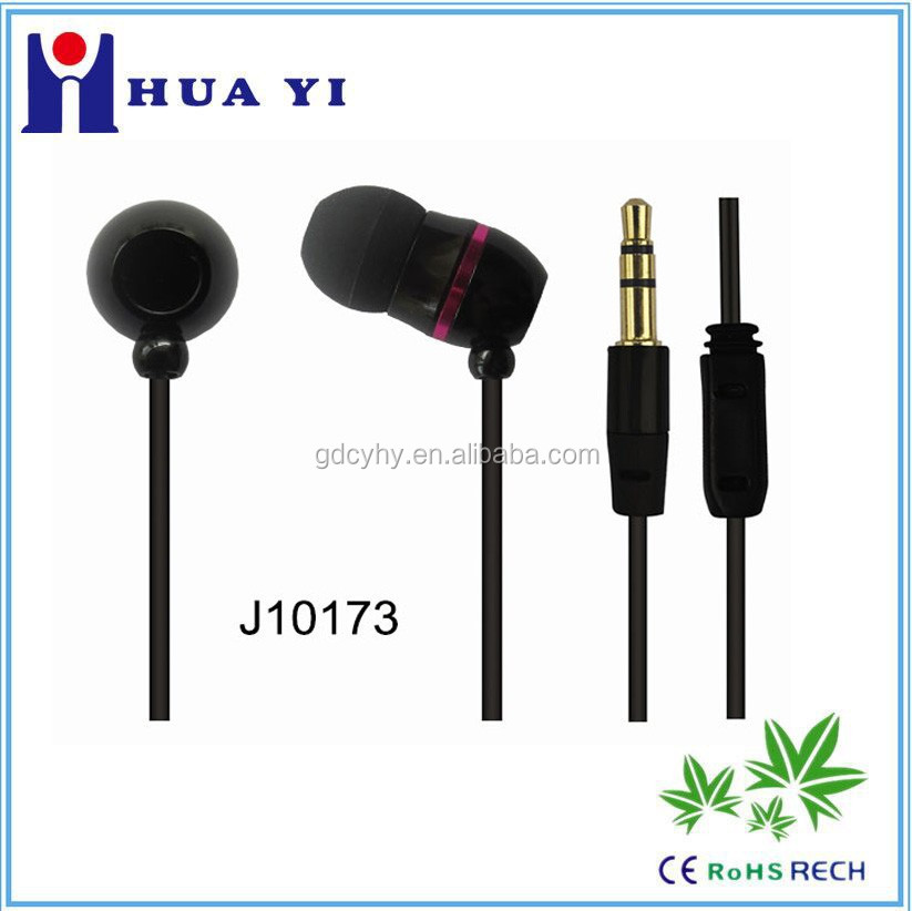 metal earphone for mobile MP3 MP4 player factory OEM with LOGO easy unique style
