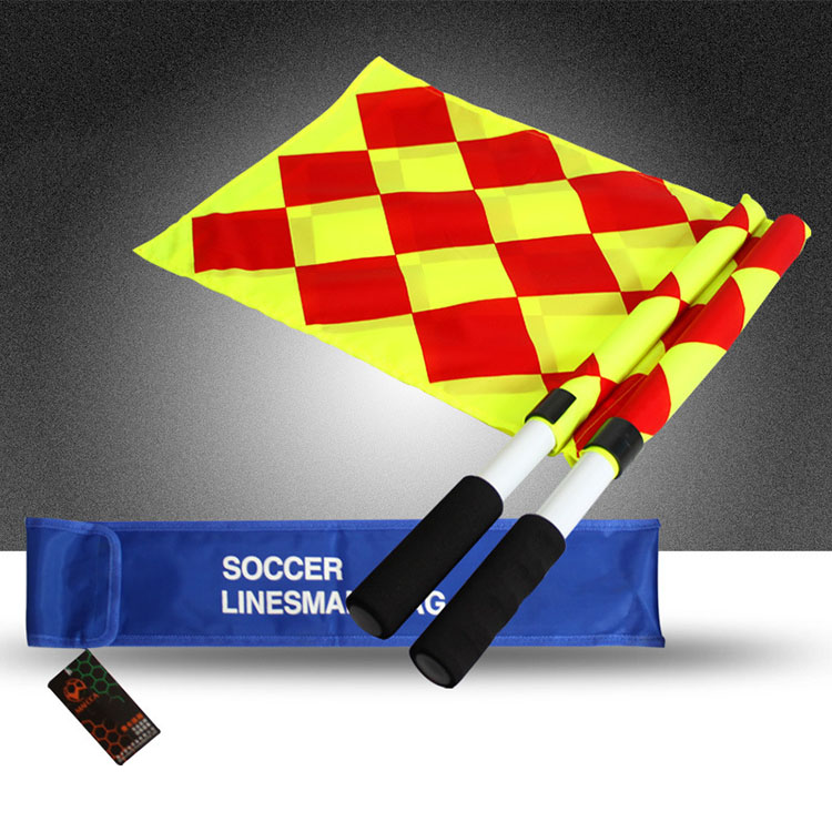 Outdoor Field Sports Equipment Hand Held Umpire Beeper Linesman Referee Flags <strong>Football</strong>