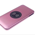 High quality Qi standard custom 10000mah smart charger with built in micro cable
