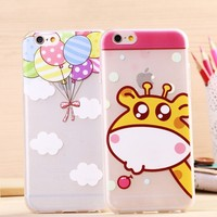 Brushed TPU Cell Phone Cover Case for iPhone 6 plus