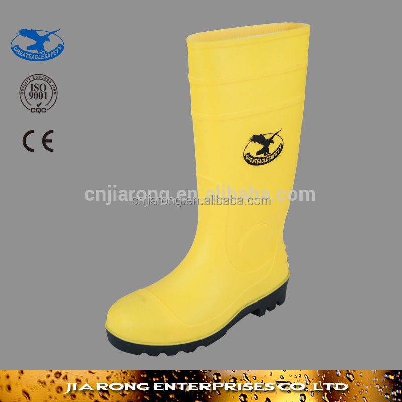 Safety PVC gumboot,PVC rain boot,safety rain boot SS032