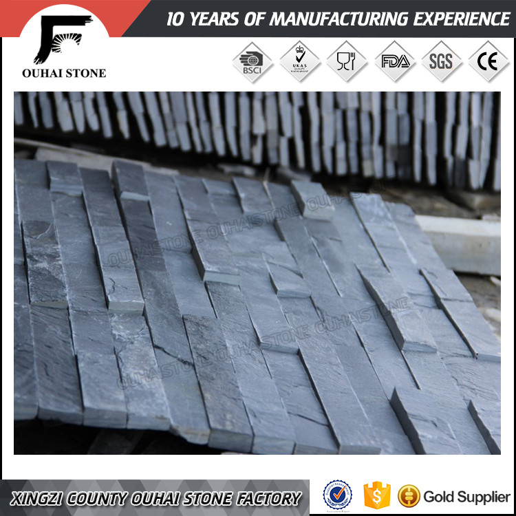 New building raw material slate tiles stone panel culture wall