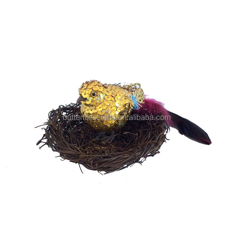 Feather artificial bird for Wedding Decorations and floral arrangement