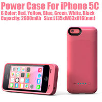 2600mAh Backup Extra Battery And Charger For iPhone 5c China Manufacturer