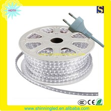 Flexible copper wire Ac220V SMD5050 led strip light round 2 pin connector