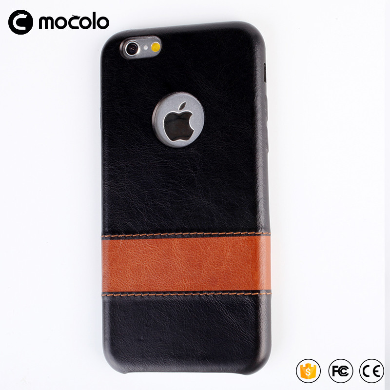 2017 Top quality Mocolo Stripe leathe Cover Case with Retail Packaging for iPhone 7/7s/7 plus leather Cover