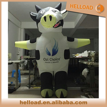 2.5m advertising inflatable cow animal costume for perforamance