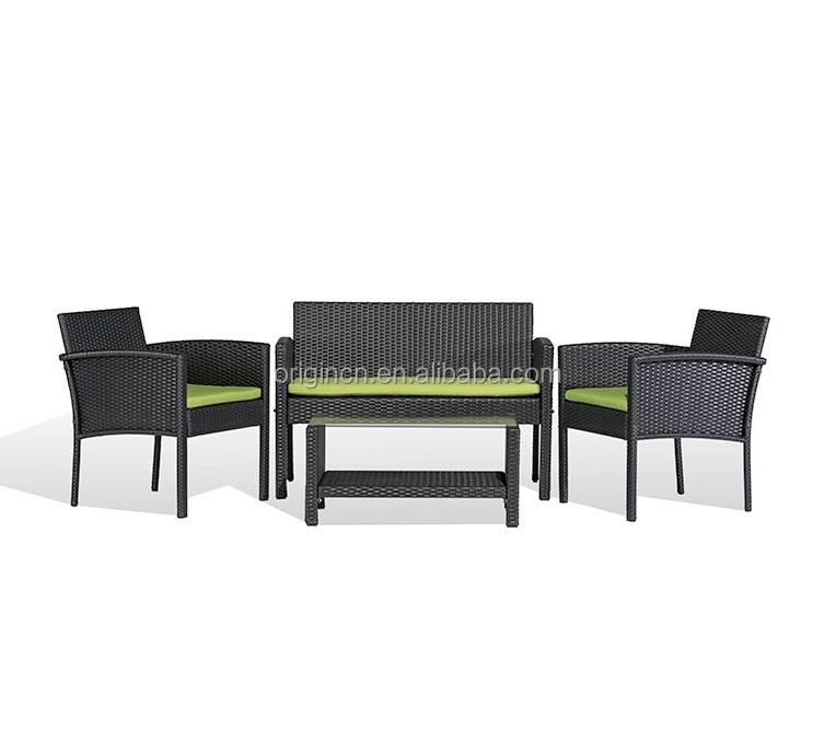 088 New design garden small furniture sets arm chair and rattan sofa outdoor pub table