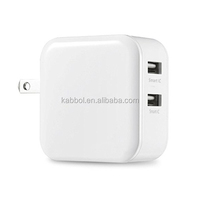 24W/4.8A Dual USB Wall Charger Adapter with Foldable Plug and Smart Charging Chip for Apple iPad Air / Air 2, iPad Mini Retina 2