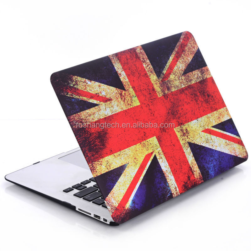 UK flag photo frosted case for macbook air 11''