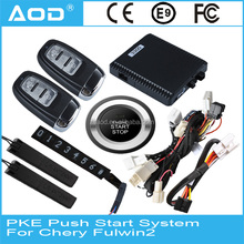 Keyless start PKE push button start /engine start stop system/remote start stop for Chery Fulwin2