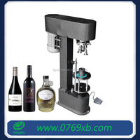 Glass and china wine bottle screw cap machine