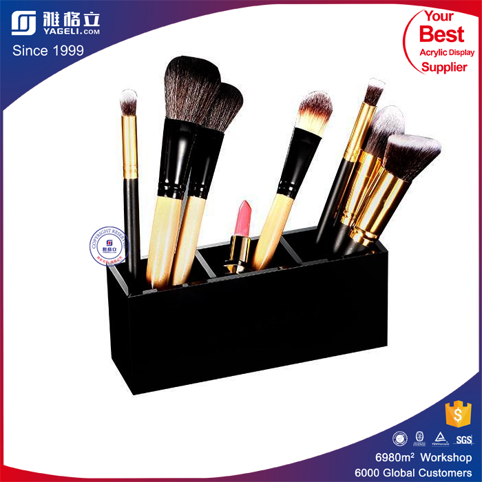Acrylic customized cosmetics brush holder / tabletop acrylic cosmetic stand acylic make up organizer acrylic makeup holder