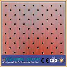 wooden timber MDF perforated acoustic panels