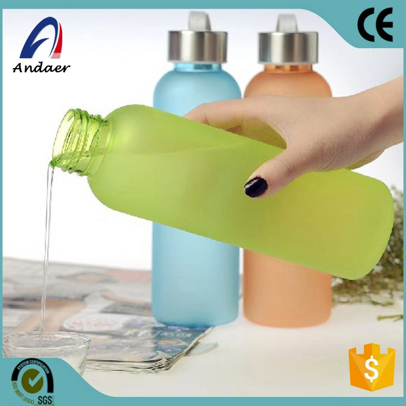 2017 Creative Exclusive New Soda Water Bottle Frosted Plastic Cup Leak-proof Seal Food Grade PC Sports Bottles With Rope