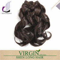8 inch virgin remy indian hair weft remy romance curl wavy human hair extensions