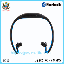 New products headphone earphone mp3 player Universal Handfree Sport Bluetooth headphones Wireless Headset earphone