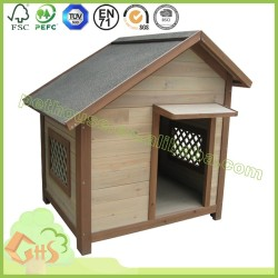 Small outdoor dog house wood kennel