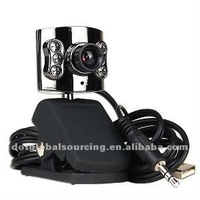 5 Megapixel 6 LED Pc USB Camera Mic Webcam For Laptop Skype