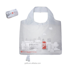 Manufacture polyester foldable eco shopper bag