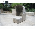 China Company Wholesale Cheap Patio Rattan Day Bed