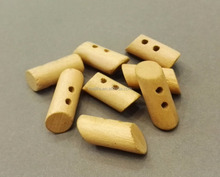 Small size 2-hole toggle wood button for children garment