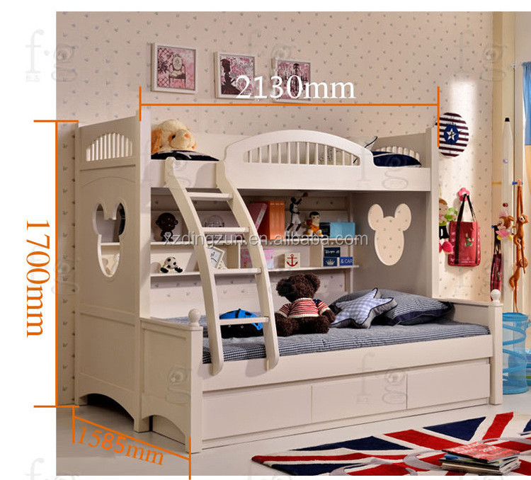 This double deck bed for kidspace saving bunk bed in bedroom for children has different style of the stair design.Both beautiful and safe. & Wooden Double Deck Bed For KidSpace Saving Bunk Bed In Bedroom For ...
