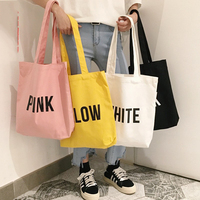 Long Shoulder Belt Canvas Cotton Shopping tote Bag