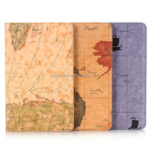 slim map pattern tablet case for Samsung Tab A T580 10.1, leather cases For Samsung Tab A T580 10.1