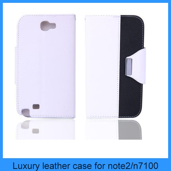 New FLIP PU Leather stand hybrid Wallet leather Case For samsung galaxy note 2 n7100(PT-S4L203)