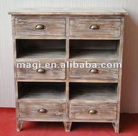 Reclaimed wood furniture with 6 drawers