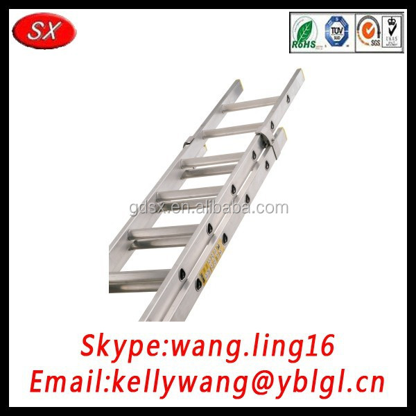 Guangdong factory trade assurance supplier OEM handrail step ladder, extension ladder, aluminum ladder