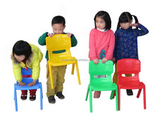 28cm cheap stacking simple bright colored smooth nursery plastic chairs