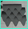 Fiber glass raw material colorful fish scale semi-round asphalt shingle