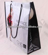fancy laminated pp woven shopping bag