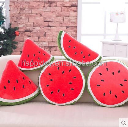 HI CE wholesale customized plush vegetables and fruits toys soft watermelon toys