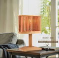Solid wooden table lamp with led light