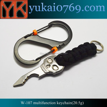 Yukai metal emergency camping outdoor tool,custom keychain pocket knife