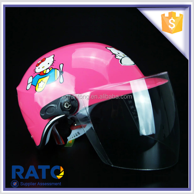 Best selling cheap cartoon open face motorcycle helmet for kids