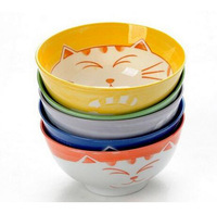 High quality Lovely Maneki Neko porcelain ceramic rice bowl