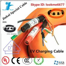6a 10a 16a portable evse portable type 2 ev charger 5m cable